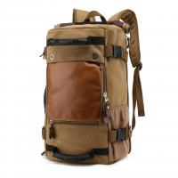 Wholesale Black Teenagers Canvas 40l Travel Backpack Vintage Style , Waterproof Travel Bag from china suppliers