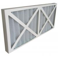 Cardboard Frame Pleated Synthetic Fiber Primary Efficiency Air Filter For HVAC