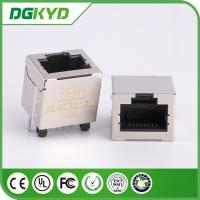 Wholesale rj-45 connector, 180 degree vertical, Metal shielded, 8 positions 8 contacts from china suppliers