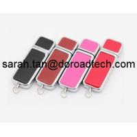 Wholesale Leather USB Flash Drive, High Quality Free Logo Printing Leather USB Pen Drive from china suppliers