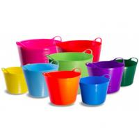 Wholesale 12 / 25 / 35 / 42 Liter Colorful Plastic Shopping Basket with Two-handle for Indoor and Outdoor from china suppliers