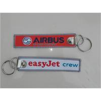 Wholesale Easyjet Crew Airbus helicopter Aviation Keytags Zipper Pull Woven Embroidered Keychain from china suppliers