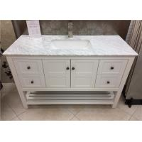 Wholesale Rectangle Sink White Marble Bathroom Countertops With Cabinet , 36 Inch Wide from china suppliers