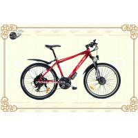 Wholesale Red Aluminum Frame 26 Inch Lithium Battery E Bike 25km/h with LED Front Light from china suppliers