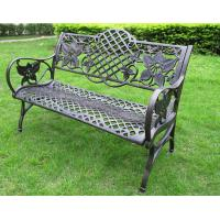 Wholesale Waterproof Decorative Outdoor Furniture Steel Garden Bench 1290 * 590 * 850mm from china suppliers