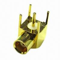 Buy cheap MMCX R/A Jack RF Coaxial Connector, Suitable for Telecommunications from wholesalers