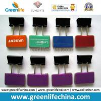 Wholesale olorful Rectangle Plastic Sheet W/Custom Logo Office Binder Clips from china suppliers