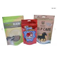Wholesale Stand Up Pouch For Pets Food Packaging , Plastic Zipper Pouch For Dog / Fish / Bird / Cat from china suppliers