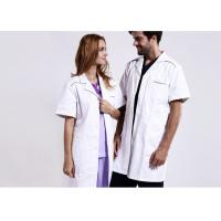 Unisex Practical White Doctor Lab Coat Eco - Friendly Unique Design With Buttons for sale