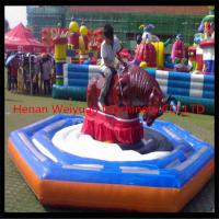 Wholesale Newest Amusement park Game Inflatable Rodeo Bull for Kids from china suppliers