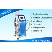 Wholesale 6 In 1 Cryolipolysis Body Slimming Machine With Cavitation / Radio Frequency / Lipo Laser from china suppliers