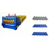 Wholesale Galvanized Steel Roof Panel Double Layer Roll Forming Machine 12--15 m / Min from china suppliers