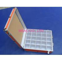 Wholesale Orange Aluminum Tool Cases / Acrylic Carrying Case With Slots For Display from china suppliers