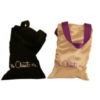 Buy cheap Closet Satin Bag, Fabric Carrier Bags Printed With Ribbon Handle 18 * 23 mm from wholesalers