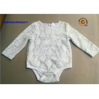 Wholesale Customized Infant Girl Rompers , 2 Layers Lace Onesie Crew Neck Baby Girl Bodysuits from china suppliers