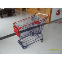 Wholesale 150L Wire Mesh Supermarket Trolley Carts With Advertisement Borad from china suppliers