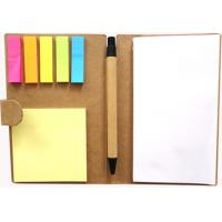 Wholesale 16 * 11cm size Customized 350 GSM kraft paper Recycled Paper Notepad from china suppliers