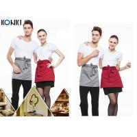 Wholesale Woven Cotton Cute Cooking Aprons , Short Red Apron For Men And Women from china suppliers