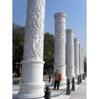 Wholesale Red carved Curved Stair Stone Handrails and stone marble pillar from china suppliers