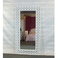 Wholesale Hollow out white framed full length floor mirror from china suppliers