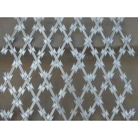 Wholesale 28mm Security Wire Fencing Mesh Diamond Hole Razor Mesh Wire 150X300 mm from china suppliers