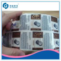 Wholesale Self Adhesive Plastic Labels For Makeup / Cosmetic Transparent Sticker With Copper Stamping Foil from china suppliers