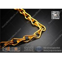 golden color mesh chain curtain for sales China Supplier