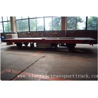 Quality Battery power rail flat car rail transport car 20ton load capacity 48V voltage DC for sale