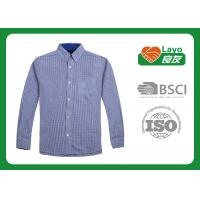Wholesale Fast Drying Blue Checkered Shirt Fashion Design 100% Polyester  from china suppliers