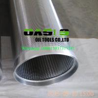 Wholesale Stainless steel 304 johnson v wire water well screens for water well drilling from china suppliers