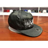 Wholesale Custom Embroidery Logo Flat Brim Snapback Cap Adjustable Unisex Hats BSCI from china suppliers