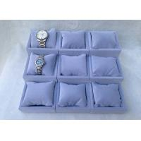 Wholesale Custom Wood Watch Display Stand Tray With Velvet Inner Pillow , Glossy Lacquered Surface from china suppliers