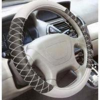 Wholesale Leather Steering Wheel Cover, Easy to Install, Use and Wash, Customized Logos Welcomed from china suppliers