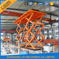 Wholesale 10T 8M Double Scissors Hydraulic Lift Hydraulic Large Scissor Cargo Lift CE SGS from china suppliers