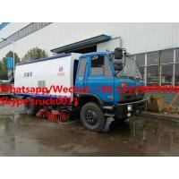Buy cheap New design dongfeng 4*2 RHD 170hp diesel road sweeping vehicle for Tanzania, Factory sale good price street sweeper from wholesalers
