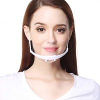 Wholesale Restaurant Chef Transparent ABS PET Hygienic Face Mask from china suppliers