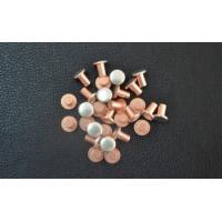 Quality AgCu Silver Plated Electrical Contacts / Silver Plated Copper Contacts For Starters for sale