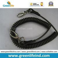 Wholesale Anti-Drop Black Spring Coil Tool Lanyard W/Oval Hooks from china suppliers