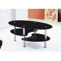 Oval Shape Glass Coffee Table With Stainless Steel Legs Of Item 102186637