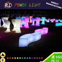 Quality Event&Party Furniture RGB Color Chaning led snake stool for sale