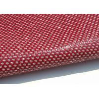 Wholesale Bright Red Perforated  Fabric , PU Mirror Leather Perforated Polyester Fabric from china suppliers