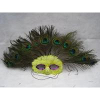 Wholesale Halloween Mluti Color Masquerade Carnival Peacock Feather Party Half Face Mask from china suppliers