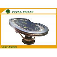 Wholesale Indoor Casino Poker Table Leather Surround Oval Square Metal Leg from china suppliers
