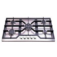 Wholesale Kitchen Built In 5 Burner Gas Hob Stainless Steel Luxury Design 860*510mm from china suppliers