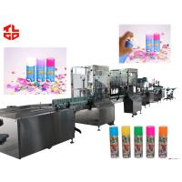 Quality Professional Automatic Aerosol Filling Machine For Producting Snow Spray Party String for sale