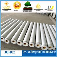 China fabric reinforced PVC waterproof membrane/ construction materials on sale