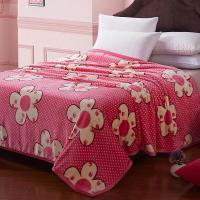Wholesale Twin Size /Single Size color customized  Polyester Microfiber  Waved Quilting Blanket for Adults / Kids from china suppliers