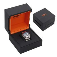 Wholesale elegant custom logo printed square wooden watch box for men from china suppliers