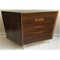 Five Drawer Indoor Storage Cabinets , Wood Structure And Steel Supporting Leg
