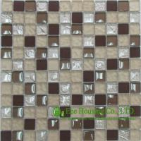 Wholesale Dust-proof Glass Crystal Mosaic Tile For Bahroom/Kitchen, China Glass mosaic tiles Factory from china suppliers